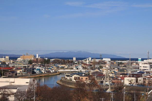 堤川と津軽半島