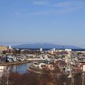 写真: 堤川と津軽半島