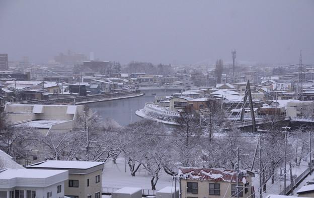 北側の雪景色01