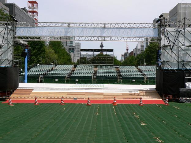 YOSAKOIソーラン祭りメイン会場舞台裏P1010901