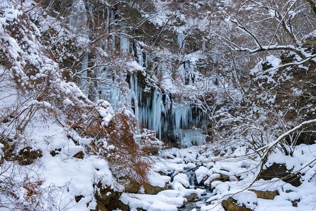 厳冬期のスッカン沢
