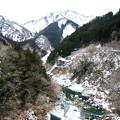 大滝村より荒川が流れる冬風景