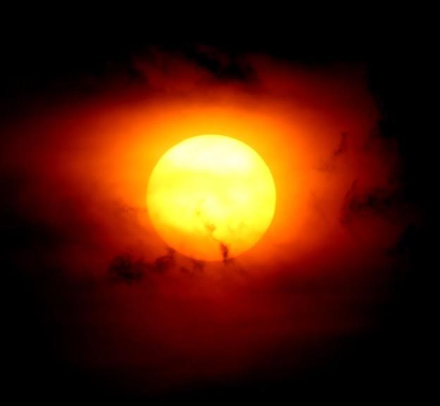 日没の太陽2