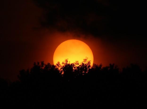 日没の太陽6