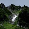 千畳敷カール 雪渓ある風景