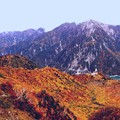 大観峰よりの紅葉の黒部湖3