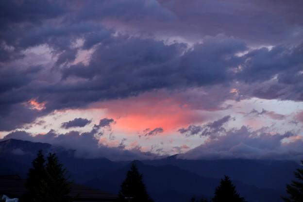 写真: 安曇野のスイス村の夕焼け1