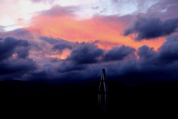 安曇野のスイス村の夕焼け3