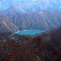 苗場ゴラゴンドラよりの二居湖(ふたいこ)紅葉19