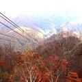 田代ロープウエイより二居湖(ふたいこ)の紅葉1
