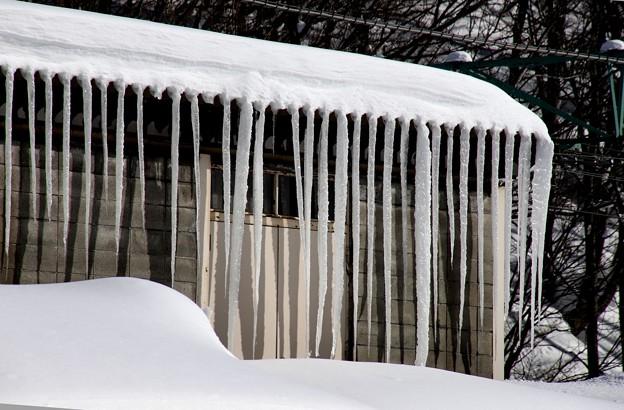 土合駅の氷柱