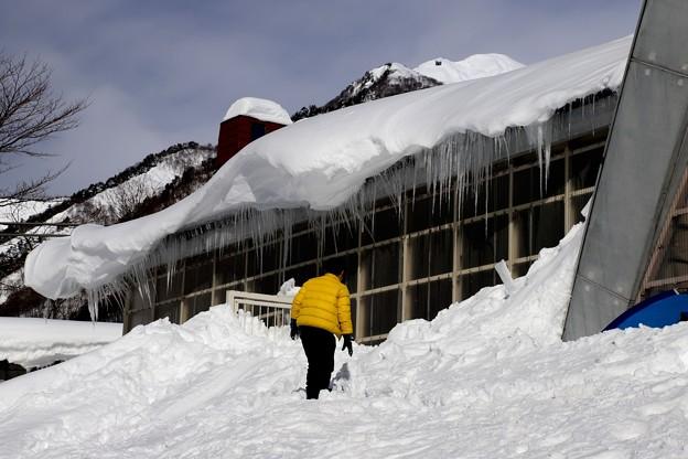 土合駅の積雪