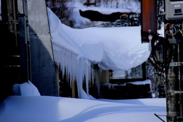 土合駅の氷柱2