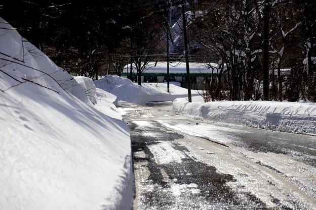 奥利根の雪道