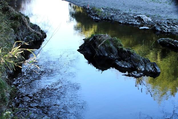 川のの水面の風景