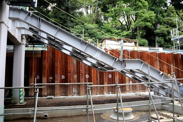 原宿駅工事中の階段