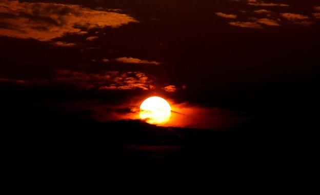 京都の日没1
