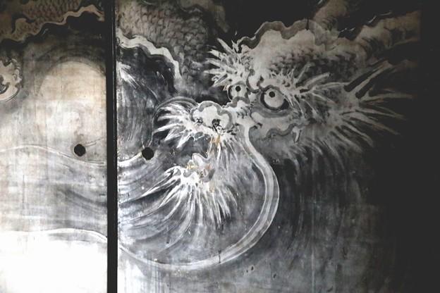 龍源院の方丈室中襖絵 三枚組の真ん中