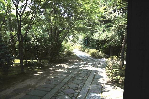 門より寺院への道