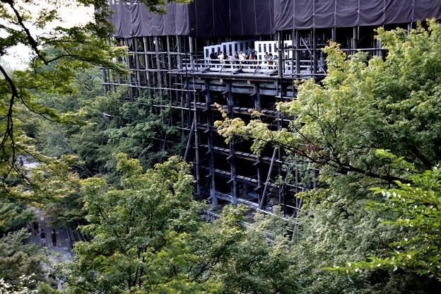工事中の清水寺の舞台