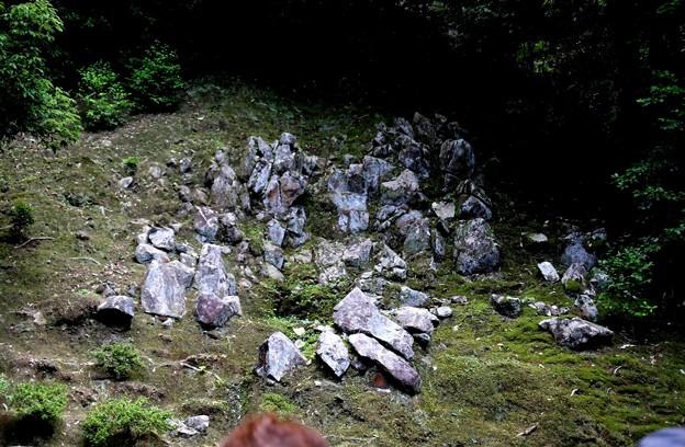 滝の流れを表現した石庭