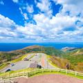 眺瞰台より津軽海峡