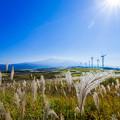 鳥海山と風