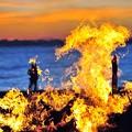 写真: 13炎の陽炎