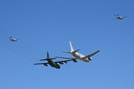KC-767&C-130H  U-125A 異機種編隊飛行 2014年 IMG_9130_2