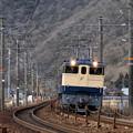 写真: レール運搬列車