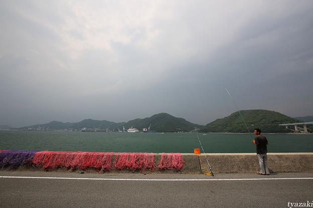 瀬戸内海の赤い漁網5
