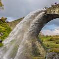 通潤橋放水
