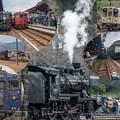 観光列車集合collage