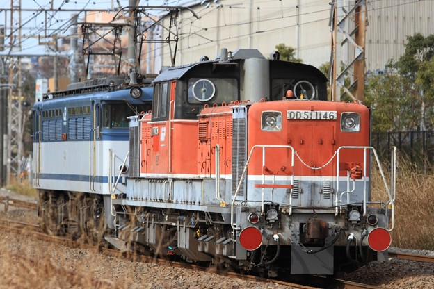 9195レ EF65 2070+DD51 1146