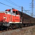Photos: 試9420レ DE10 1752+旧型客車 6両+D51 498