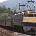 Photos: 試9759レ EF65 501+旧型客車 5両+EF64 1053