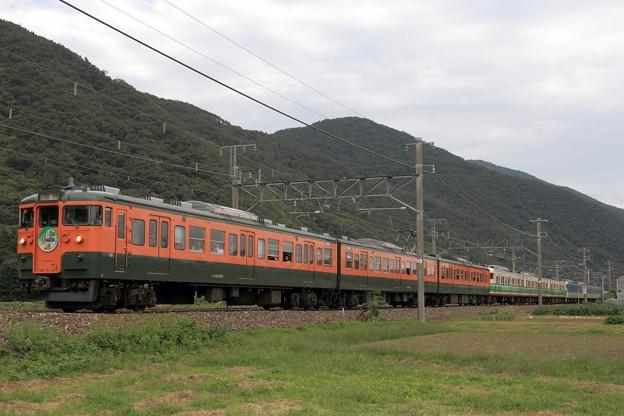 写真: 9645M しなの鉄道115系S3+S7+S15編成 9両