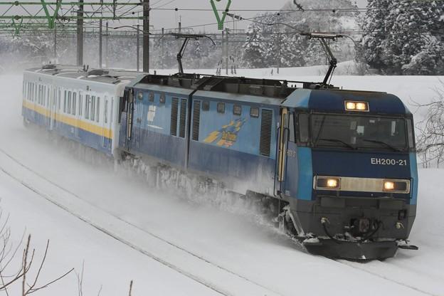 9788レ EH200 21+関東鉄道キハ5021+キハ5022