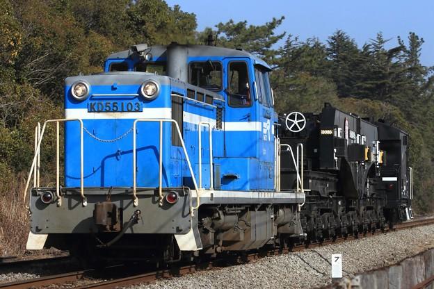 9101レ KD55 103+シキ801B1+ヨ8629