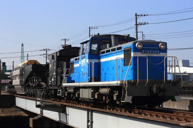 Photos: 9102レ KD55 103+ヨ8629+シキ801B1