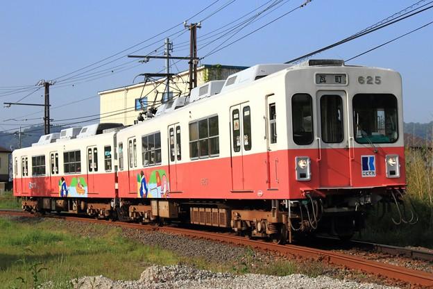 1010レ 高松琴平電鉄600形625F 2両