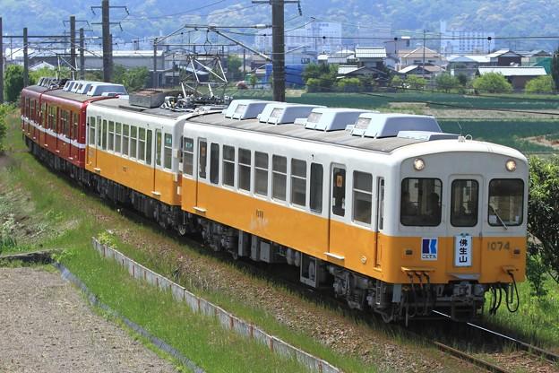 3036レ 高松琴平電鉄1070形1073F+1080形1081F 4両