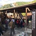 明礬温泉・湯の花小屋の見学
