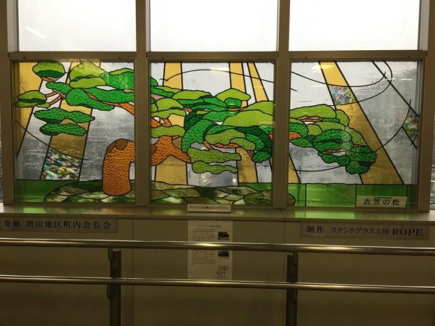 名取駅のステンドグラス