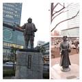 家康と竹千代の像