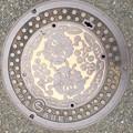 調布市のマンホール蓋(百日紅)