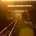 写真: 始発列車