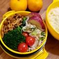 素麺弁当、味噌豚