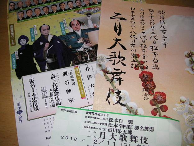 2/11 歌舞伎座 パンフ