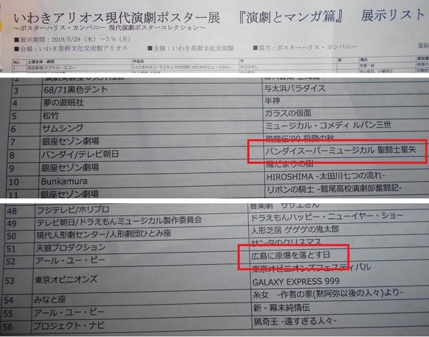 0706 いわきアリオス現代演劇ポスター展 08聖闘士星矢&52広島に原爆を落とす日